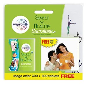 Sweet n Healthy Sugar Substitute Sucralose Tablets Rs 129 amazon dealnloot