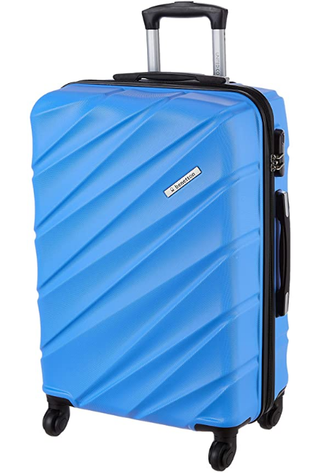United Colors of Benetton Roadster Hardcase Luggage ABS 68 cms Sky Blue Hardsided Check-in Luggage