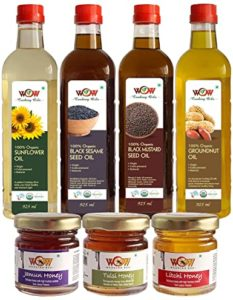 WOW Cooking Oils Certified Organic Cold Pressed Rs 455 amazon dealnloot