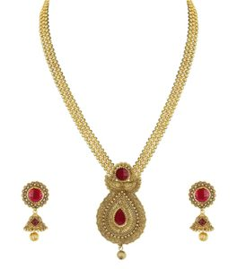 Zaveri Pearls Modern Style Necklace Set For Rs 85 amazon dealnloot