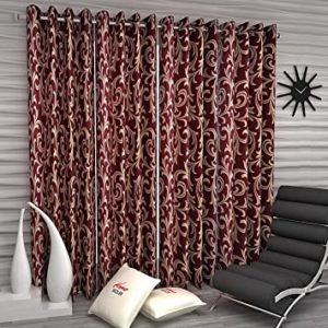Home Sizzler 4 Piece Eyelet Polyester Window Rs 213 amazon dealnloot