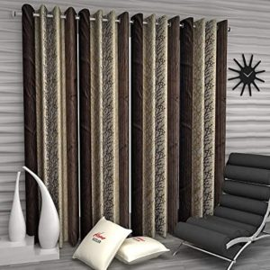 Home Sizzler Abstract Eyelet Polyester Long Door Rs 331 amazon dealnloot