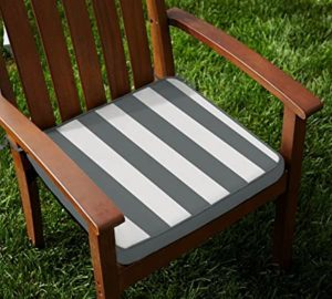 Lushomes Grey Square Striped Foam Chairpad with Rs 149 amazon dealnloot