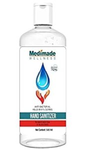 Medimade 500 ml Sanitizer 70 Alcohol FDA Rs 115 amazon dealnloot
