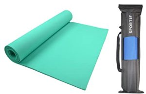 Sportif Non Slip Yoga Mat with Carry Rs 300 amazon dealnloot