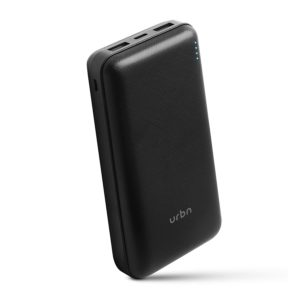 URBN 20000mAh Li-Polymer Ultra Compact Type-C Power Bank with 12W Fast Charge, Type C & Micro Input (Black) at Rs 699