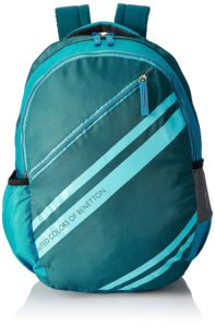United Colors of Benetton 34 Ltrs Green School Backpack