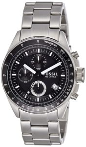 Fossil Decker Chronograph Analog Black Dial Men Rs 3998 amazon dealnloot