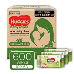 Huggies Nourshing Clean Baby Wipes Monthly Travel Rs 700 amazon dealnloot