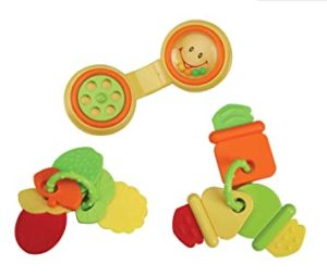 Luvlap Telephone Fruit Teether Rattles with Vibrant Rs 103 amazon dealnloot