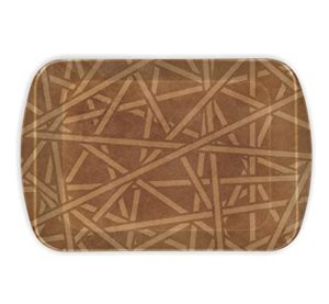 Milton Trendy Criscross Large Melamine Tray Brown Rs 210 amazon dealnloot
