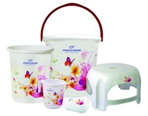 Princeware Bathroom Set of 5Pcs consisting of Rs 560 amazon dealnloot