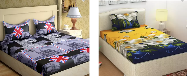 Printed Double Bedsheets