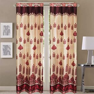Queenzliving Imperial Curtain for Door 7 feet Rs 249 amazon dealnloot