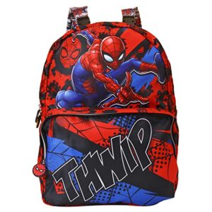 Spiderman Polyester 33 cms Multi School Backpack Rs 374 amazon dealnloot