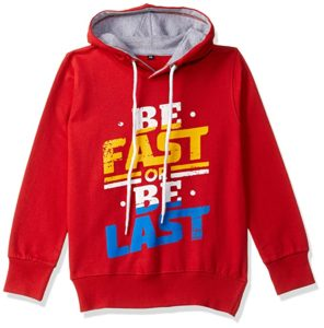T2F Boys Chest Printed Hooded Sweatshirt Rs 209 amazon dealnloot