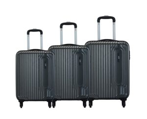 VIP Trace Graphite Polycarbonate Hardsided Luggage Set Rs 6999 amazon dealnloot