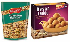 Bikano Navratan Mixture 1kg and Besan Laddu Rs 290 amazon dealnloot