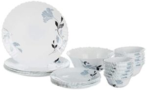 Borosil Fluted Millenia Dinner Set 25 Pieces Rs 1592 amazon dealnloot