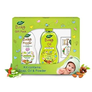Dabur Baby Gift Pack 3 pieces Daily Rs 270 amazon dealnloot