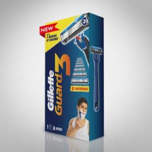 Gillette Guard 3 Shaving Combo (1 Razor + 8 Cartridges)  (Pack of 9)