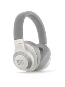 JBL E65BTNC Wireless Over-Ear Active Noise Cancelling Headphones (White)