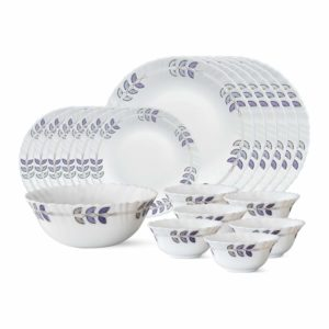 Larah By Borosil Floret Opalware Dinner Set