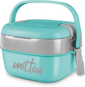 Milton CUBIC GREEN 2 Containers Lunch Box  (1100 ml)