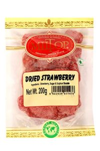 Miltop Dried Strawberry 200g Rs 199 amazon dealnloot