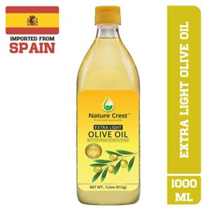 Nature Crest Extra Light Olive Oil 1L Rs 357 amazon dealnloot