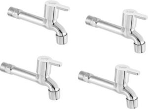 Prestige Flora Long body Bib Cock Tap - Pack of 4 Bib Tap Faucet (Wall Mount Installation Type)
