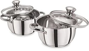 Pristine Stainless Steel Casserole Set With Lid Rs 696 amazon dealnloot