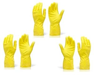 Rubber Hand Gloves Reusable Washing Cleaning Kitchen Rs 5 amazon dealnloot
