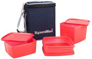Signoraware Director Special Medium Lunch Box with Rs 315 amazon dealnloot