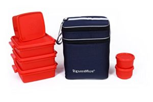 Signoraware Family Pack Lunch with Bag Deep Rs 399 amazon dealnloot