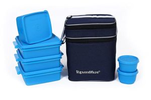 Signoraware Family Pack Lunch with Bag Turquoise Rs 574 amazon dealnloot