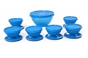 Signoraware Pudding Set 7 Pieces Turquoise Blue Rs 323 amazon dealnloot