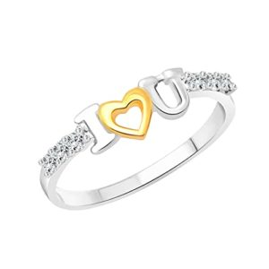 Vighnaharta Valentine Gift I Love U CZ Rs 149 amazon dealnloot