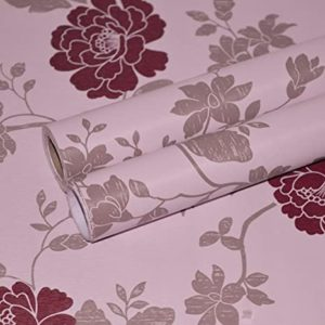 Wollzo Pink Flowers Self Adhesive Wallpaper 45 Rs 99 amazon dealnloot