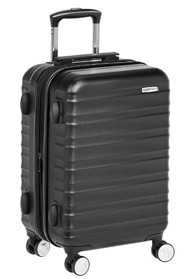 AmazonBasics Premium Hardside Spinner Luggage Suitcase with Built-In TSA Lock - 21-Inch Carry-on