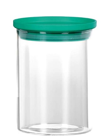 Cello Glass Container- 700 ml, 1 Piece,Green
