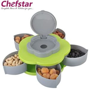 Chefstar 5 Compartments Flower Candy Box Serving Rs 118 amazon dealnloot