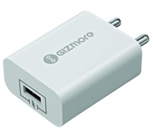 Gizmore Fast Charger GIZ PC601 White Rs 346 amazon dealnloot