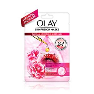 Olay Sheet Mask Camellia Nourishing Sheet Mask Rs 132 amazon dealnloot