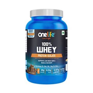 Onelife Whey Protein Isolate with BCAA 6 Rs 1369 amazon dealnloot