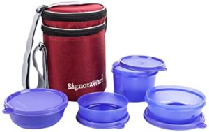 Signoraware Perfect Lunch Box with 15 cm Rs 326 amazon dealnloot