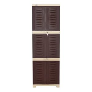 Supreme Fusion Plastic Cupboard Large Globus Brown Rs 2409 amazon dealnloot