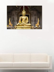 999Store Printed Golden Buddha In The Bamboo Rs 687 amazon dealnloot