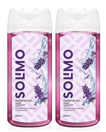 Amazon Brand - Solimo Shower Gel, Fresh Lavender - 250 ml (Pack of 2)