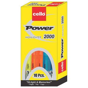 Cello Power Line Highlighter Pack of 10 Rs 53 amazon dealnloot